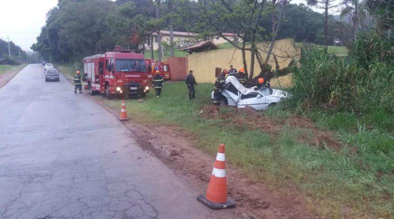 Motorista morre ao capotar veículo no km 79 da Bunjiro