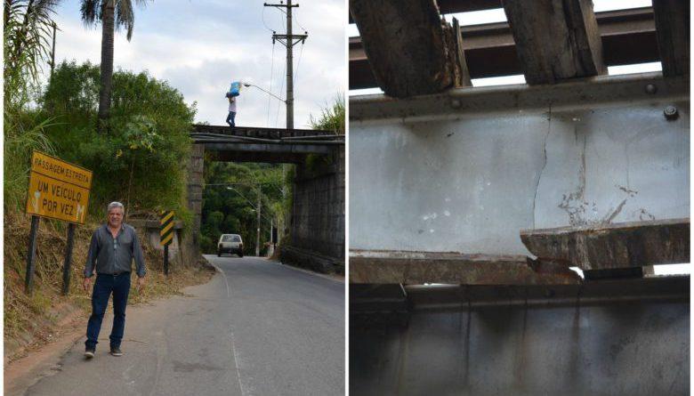 Pontilhão na estrada que liga Ibiúna a São Roque corre risco de desabar